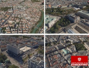 Wien 3d collage